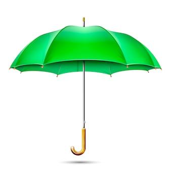 Ombrello verde dettagliato realistico