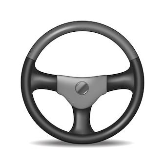 Volante dettagliato realistico isolato su uno sfondo bianco attrezzature di trasporto per auto. illustrazione vettoriale