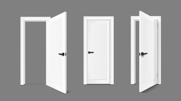Illustrazione realistica della collezione di porte