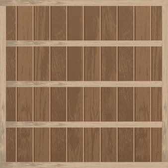 Ripiano in legno vuoto realistico
