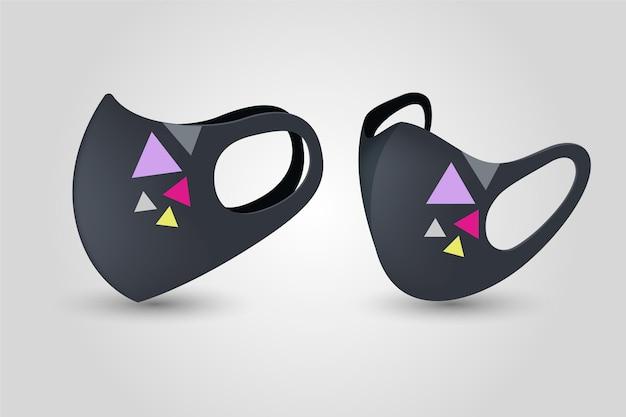 Realistico concetto di maschera in tessuto
