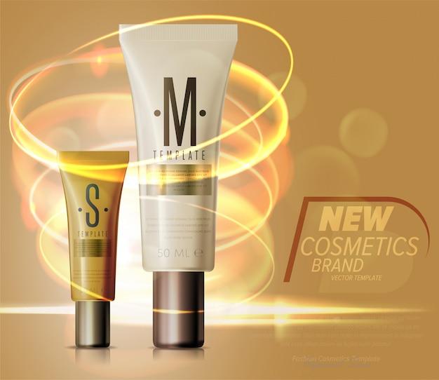 Set di prodotti cosmetici realistici per la cura del viso o del corpo