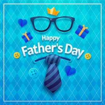 Illustrazione realistica di festa del papà