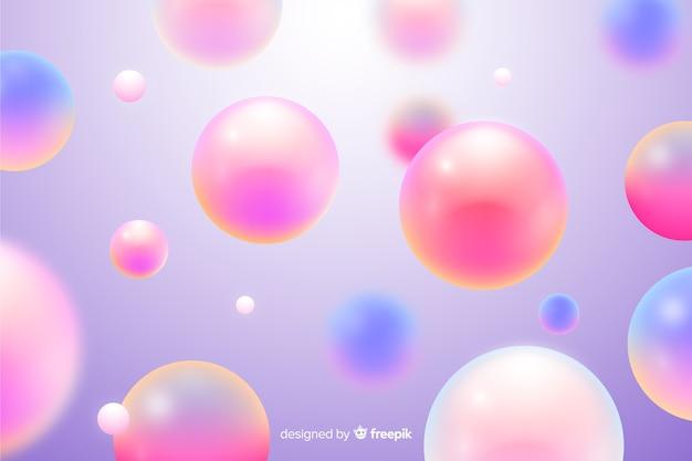 Sfondo di sfere rosa che scorre realistico Vettore Premium