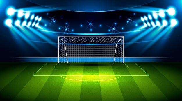 Sfondo realistico del campo di calcio