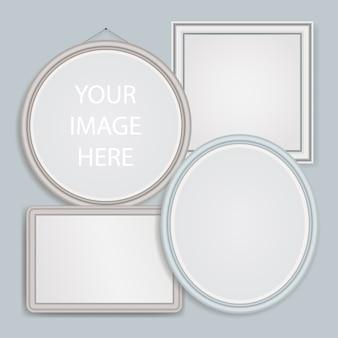 Set di cornici realistiche. frames mockups