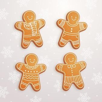 Accumulazione realistica del biscotto dell'uomo di pan di zenzero