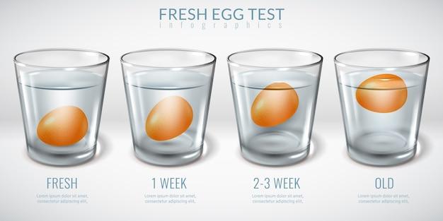 Realistici bicchieri di vetro infografica