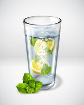Poster di bicchieri di vetro realistico