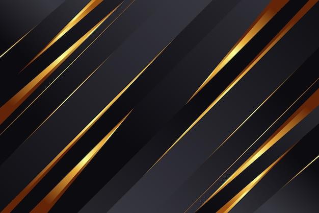 Sfondo di lusso dorato realistico Vettore Premium
