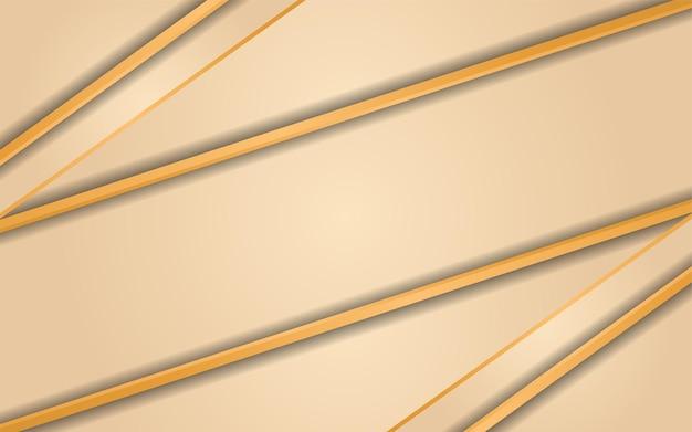 Sfondo di lusso dorato sfumato realistico