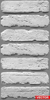 Fondo grigio realistico di struttura della parete di mattoni