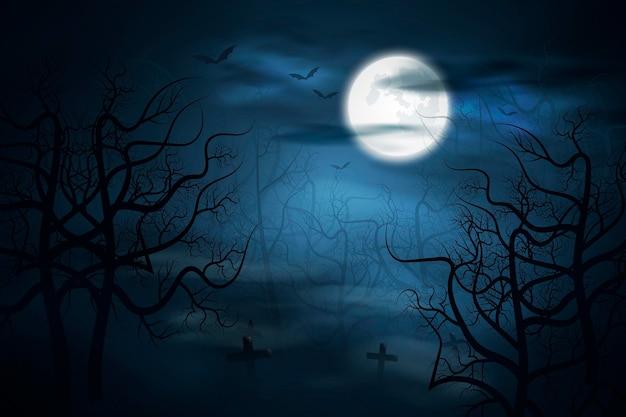 Realistico sfondo di halloween
