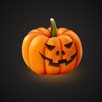 Zucca di halloween realistica isolata