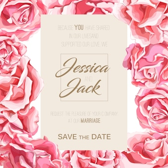 Modello senza cuciture di fioritura del fiore del fiore rosa disegnato a mano realistico matrimonio floreale vintage, matrimonio, carta da parati acquerello carta di invito anniversario, sfondo modello sfondo.