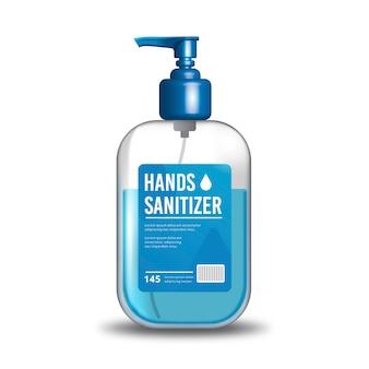 Concetto realistico di disinfettante per le mani