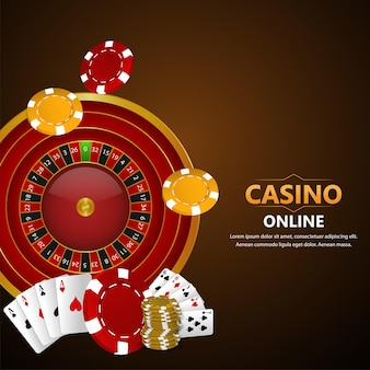 Illustrazione realistica del gioco d'azzardo del casinò e dello sfondo