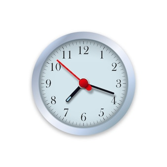 Illustrazione realistica di orologio da parete. monitora il tempo.