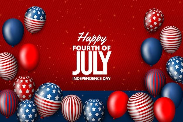 Realistico giorno dell'indipendenza palloncini sfondo