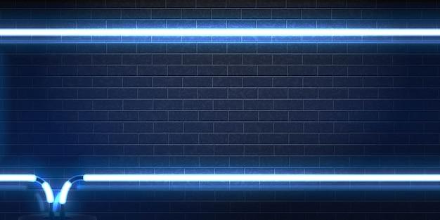 Segno al neon isolato realistico del telaio