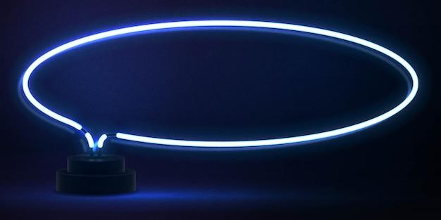 Insegna al neon isolata realistica