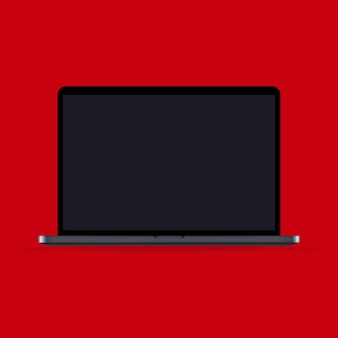 Icona di mockup portatile realistico. taccuino. tema scuro. può essere utilizzato per affari, marketing e pubblicità. vettore eps 10. isolato su priorità bassa.