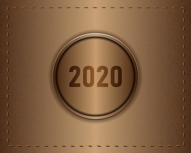 Sfondo di texture di cuoio realistico 2020