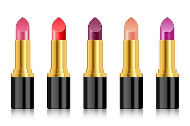 Illustrazione realistica del rossetto isolato su priorità bassa bianca