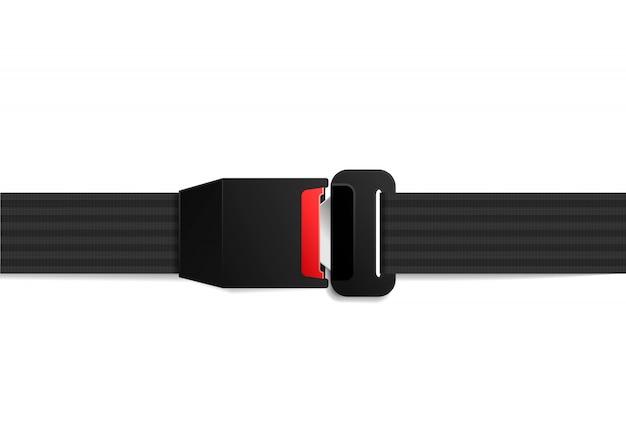 Cintura di sicurezza bloccata realistica su bianco
