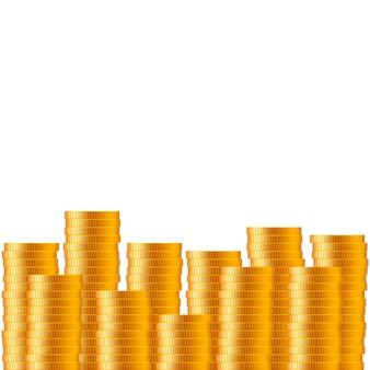 Lotto realistico di monete