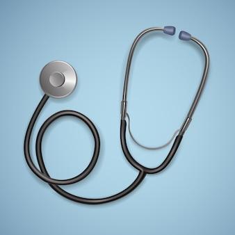 Stetoscopio medico realistico.