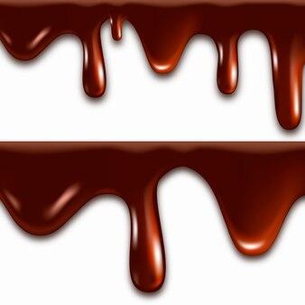 Cioccolato fuso realistico