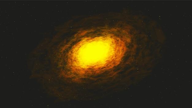 Spirale realistica della via lattea su sfondo galassia, universo e concept design stellato.