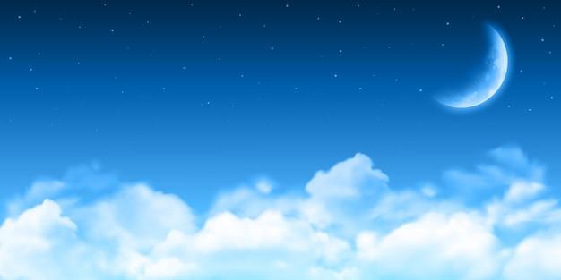 Sfondo di notte al chiaro di luna realistico.