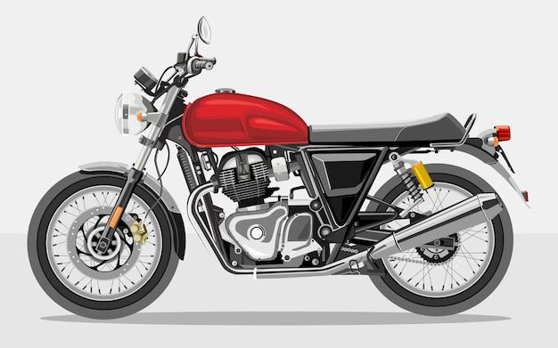 Illustrazione dettagliata della motocicletta realistica