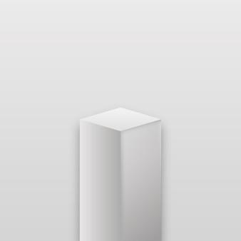 Fase realistica del museo. podio cubo realistico, esposizione di mostre.