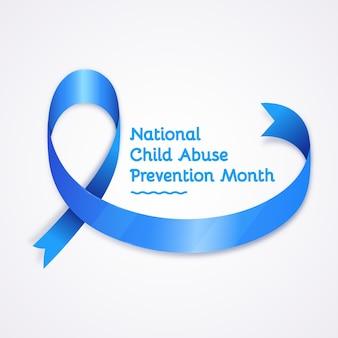 Illustrazione realistica del mese nazionale di prevenzione degli abusi sui minori