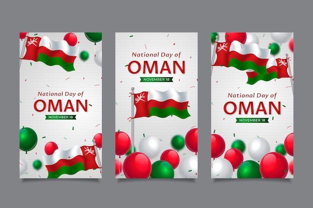 Giornata nazionale realistica della raccolta di storie di instagram dell'oman