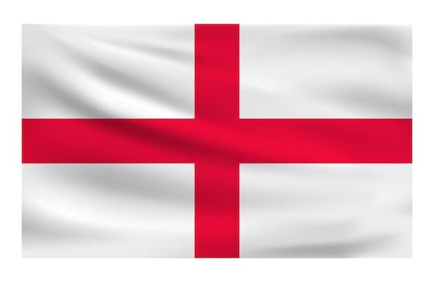 Bandiera nazionale realistica dell'inghilterra