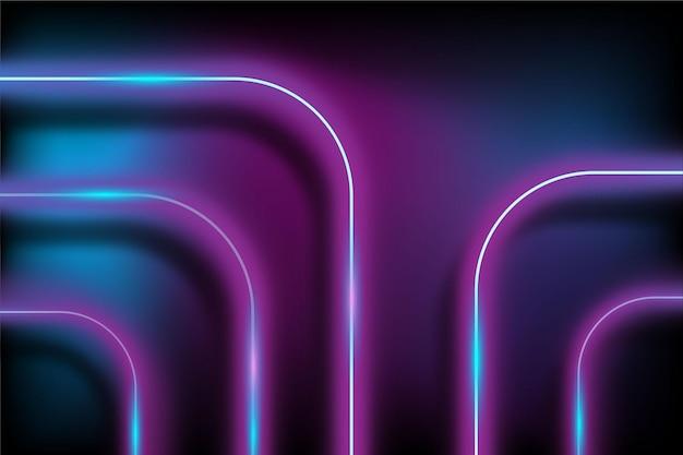 Sfondo realistico di luci al neon
