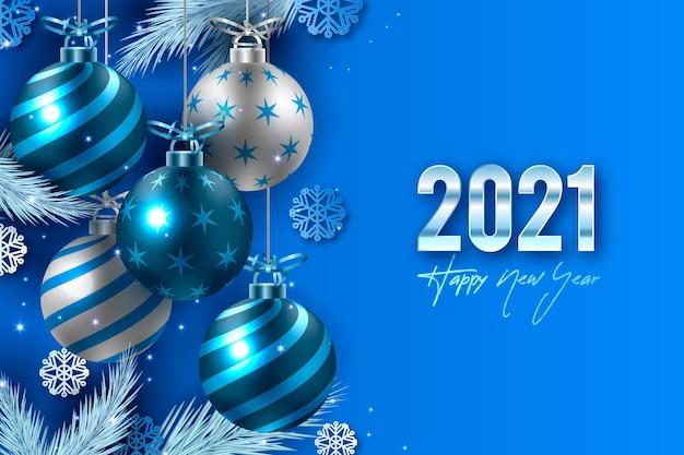 Sfondo realistico del nuovo anno 2021