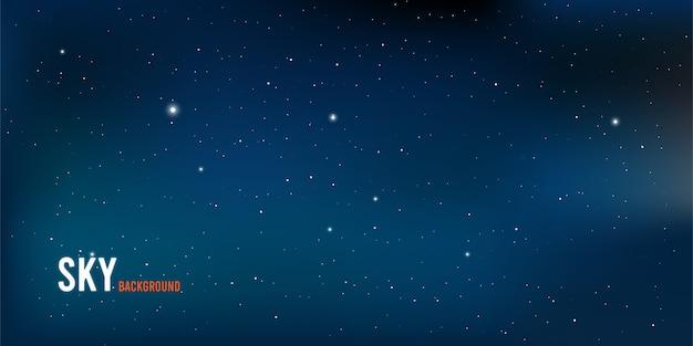 Cielo notturno e stelle realistici. illustrazione dello spazio esterno