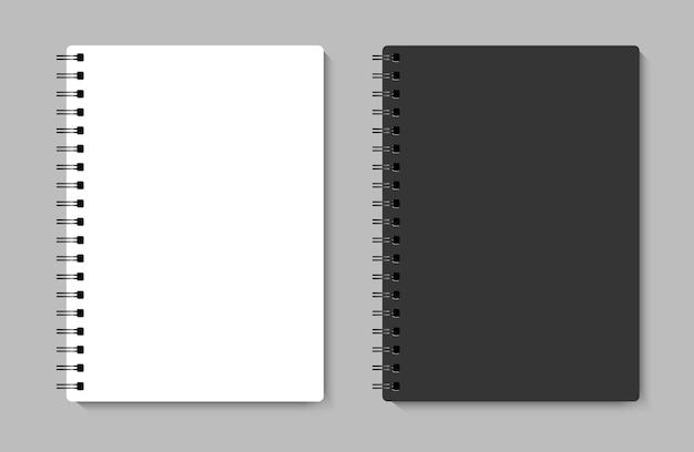 Taccuino realistico mock up per la tua immagine. illustrazione vettoriale.
