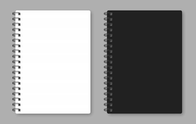 Quaderno realistico per la tua immagine.