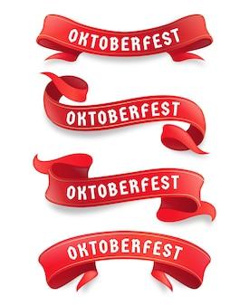 Set di nastri più oktoberfest realistici