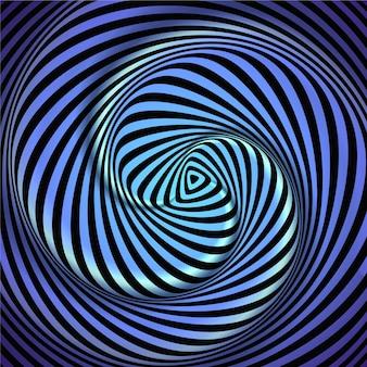 Sfondo realistico illusione ottica