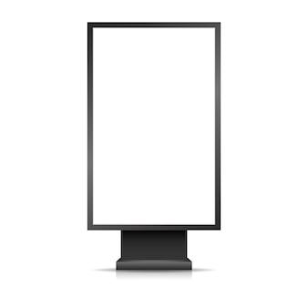 Banner pubblicitario esterno realistico. mockup di display box luce di via