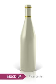 Bottiglie di perle realistiche di vino o cocktail