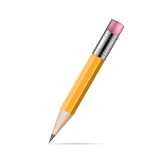 Illustrazione realistica della matita isolata su fondo bianco