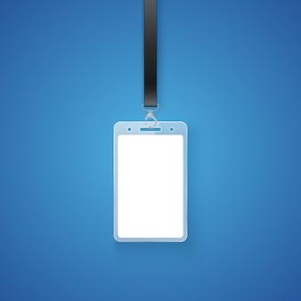 Permesso personale realistico. porta badge identificativo professionale, tessera d'accesso